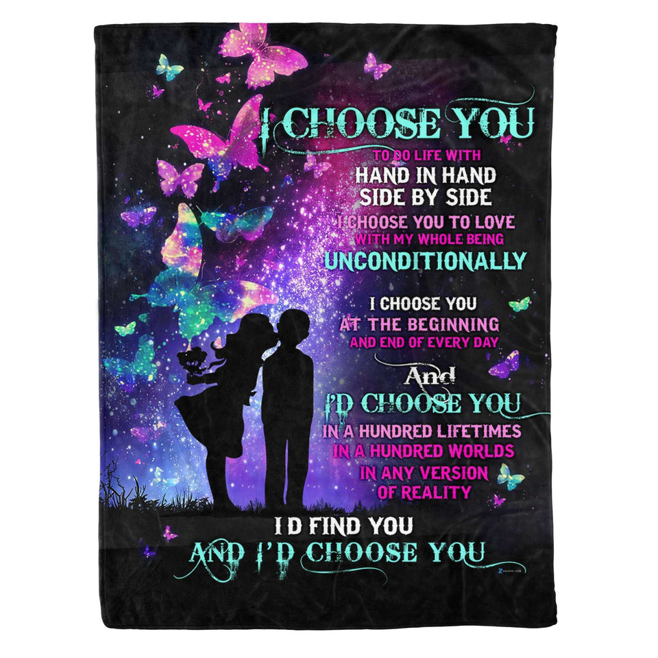 Fleece Blanket - I Choose You - yenyenstore
