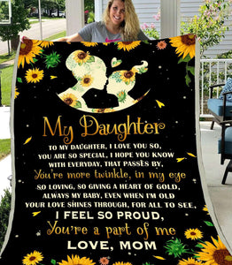 BLANKET - To My Daughter - Sunflower - yenyenstore