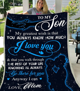 Blanket - To my son - Be there for you - yenyenstore