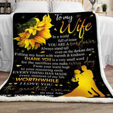 Blanket -  To My Wife - You are a Sunflower - yenyenstore