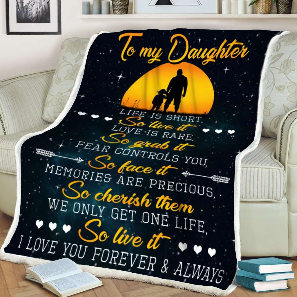 Blanket - To my daughter - So live it - yenyenstore