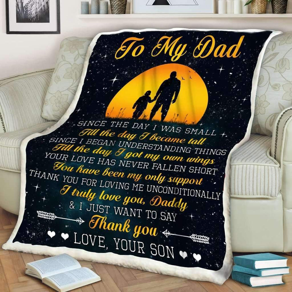 Blanket - To my Dad - I truly love you - yenyenstore