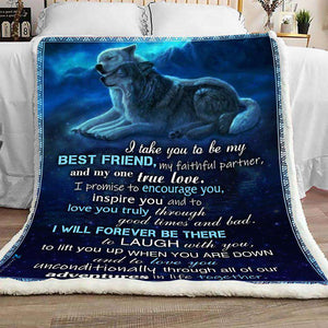 BLANKET - Wolf - I Take You - yenyenstore