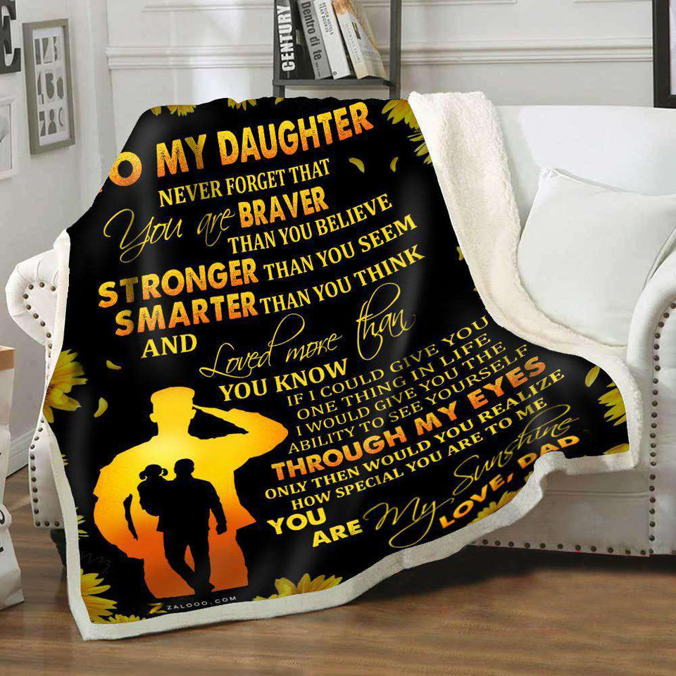 Blanket - Veteran - To My Daughter - Through my eyes - yenyenstore
