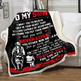Blanket - Firefighter - To my son - Win or learn - yenyenstore