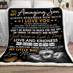 Blanket - To my Amazing Son - Love and kindness - yenyenstore