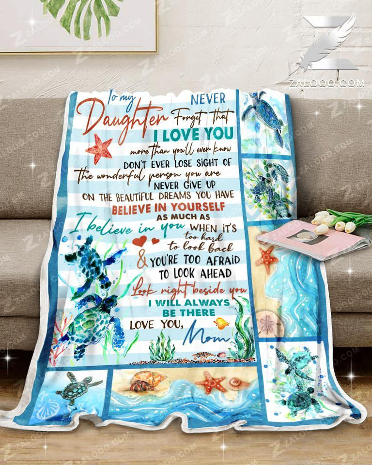 Blanket - Turtle - To My Daughter - I'll Always Be There