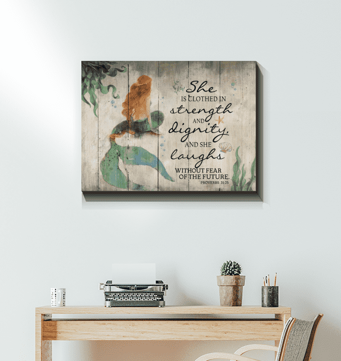CANVAS - MERMAID - She is clothed in - yenyenstore