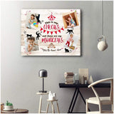 Zalooo Enjoy The Nana'S Show Personalized Canvas Prints Wall Art Decor - Zalooo.com Custom Wall Art Canvas