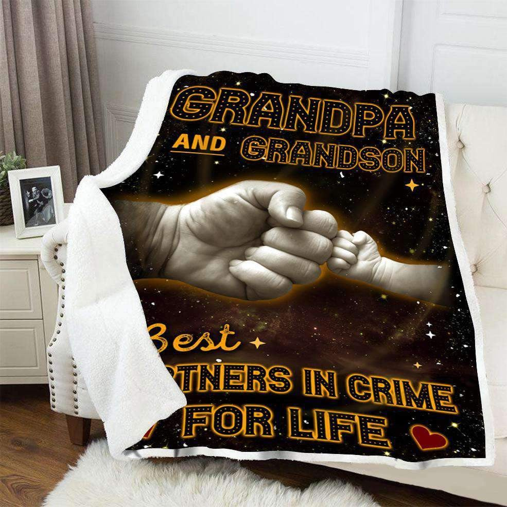 BLANKET - Grandpa and Grandson - Best partners in crime for life - yenyenstore