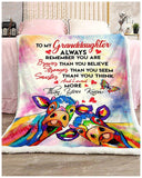 BLANKET COW GRANDDAUGHTER You are loved more than you know - Zalooo.com Custom Wall Art Canvas