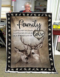 BLANKET DEER A Little Bit Of Crazy - Zalooo.com Custom Wall Art Canvas