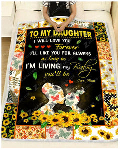 BLANKET DAUGHTER (Mom) I Will Love You Forever - Zalooo.com Custom Wall Art Canvas