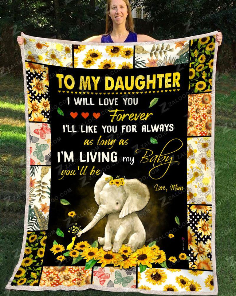 BLANKET ELEPHANT Daughter (Mom) I'll love you forever