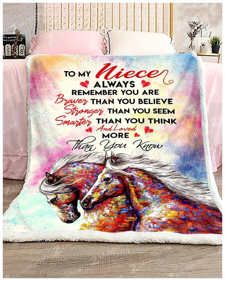 BLANKET - HORSE - Niece - You are loved more than you know