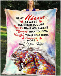BLANKET HORSE Niece You are loved more than you know