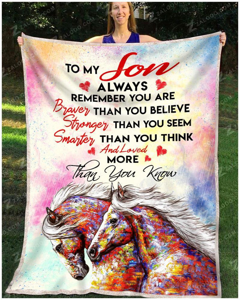 BLANKET - HORSE - Son - You are loved more than you know