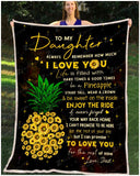 BLANKET Daughter (Dad) Be a Pineapple - Zalooo.com Custom Wall Art Canvas