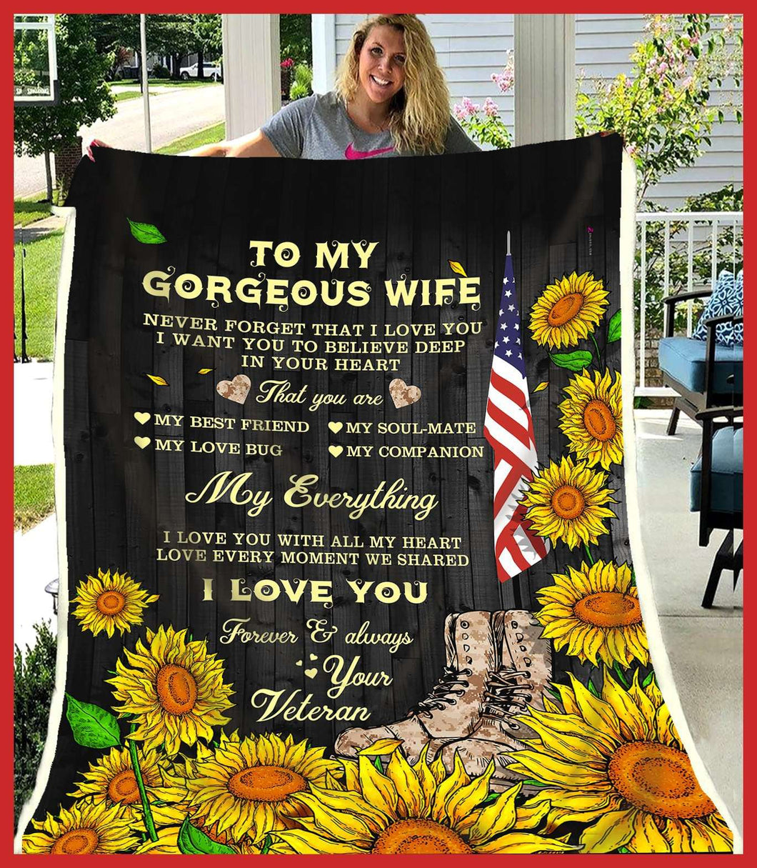 BLANKET - To my wife - My everything (Veteran) - yenyenstore