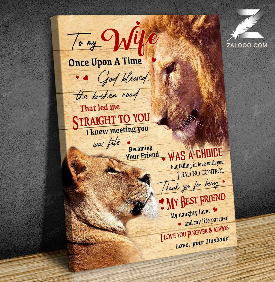 CANVAS - LION - To my wife - Once Upon A Time