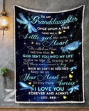 BLANKET DRAGONFLY Granddaughter (Nani) Once Upon A Time - Zalooo.com Custom Wall Art Canvas