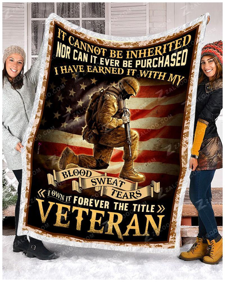 BLANKET VETERAN I Own It Forever