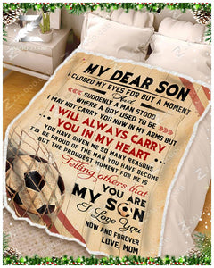BLANKET - SOCCER - Son (Mom) - I Closed My Eyes
