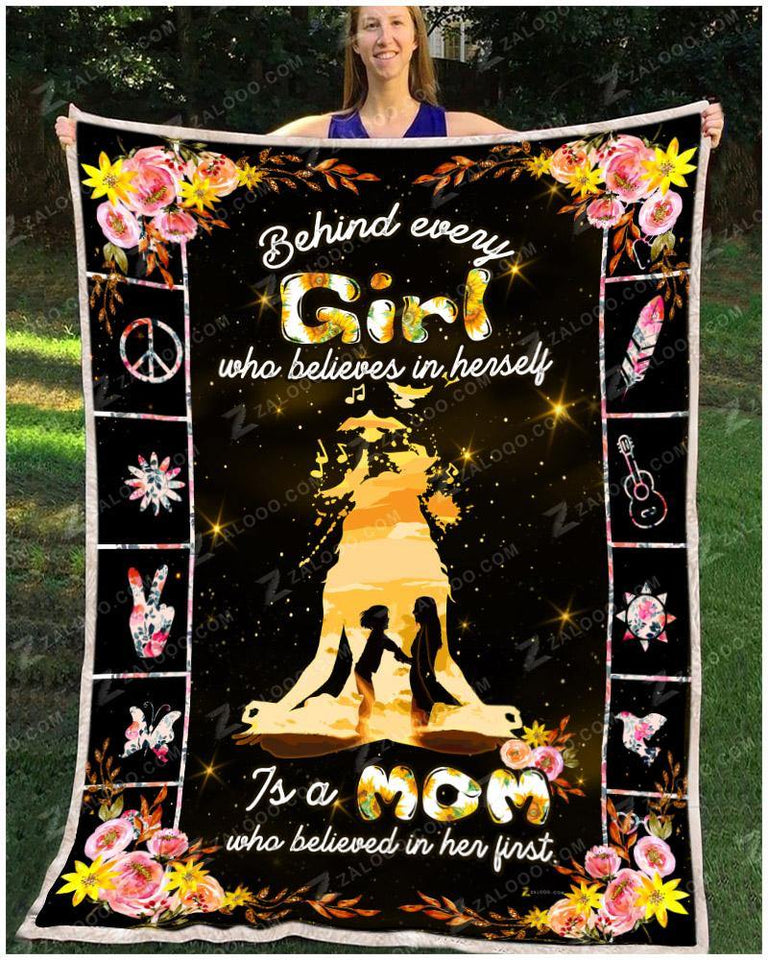 BLANKET DAUGHTER (Mom) Believe - Zalooo.com Custom Wall Art Canvas