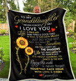 BLANKET Granddaughter (Grandpa) You are my sunshine