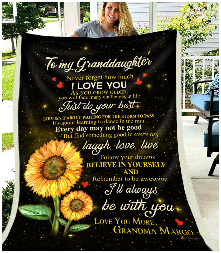 BLANKET Granddaughter (Grandma Margo) I'll always be with you