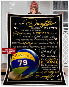 Blanket - Volleyball - To my daughter - Proud of you