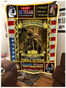 BLANKET FEMALE VETERAN