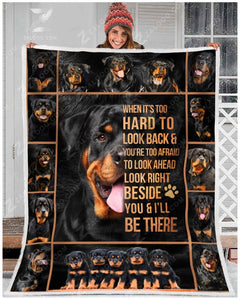 Blanket Rottweiler I'll Be There