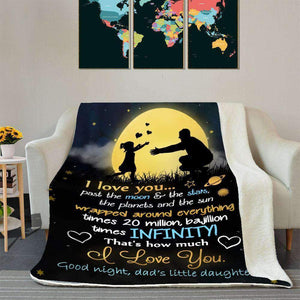 BLANKET - Dad&Daughter - I Love You - yenyenstore