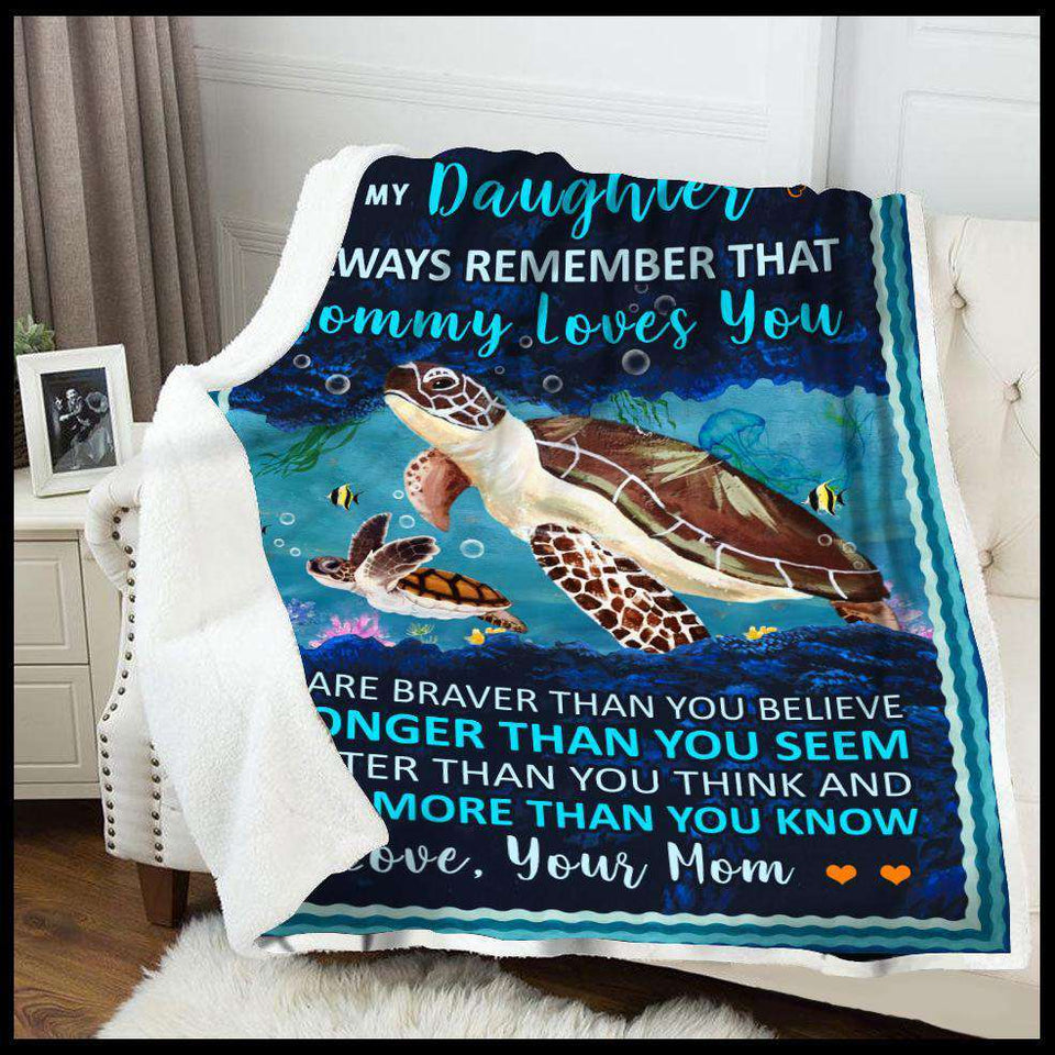 BLANKET - Turtle - Mommy Loves You - yenyenstore