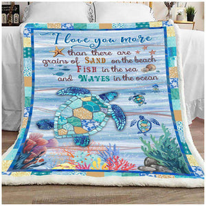 BLANKET - Turtle - I Love You More - yenyenstore