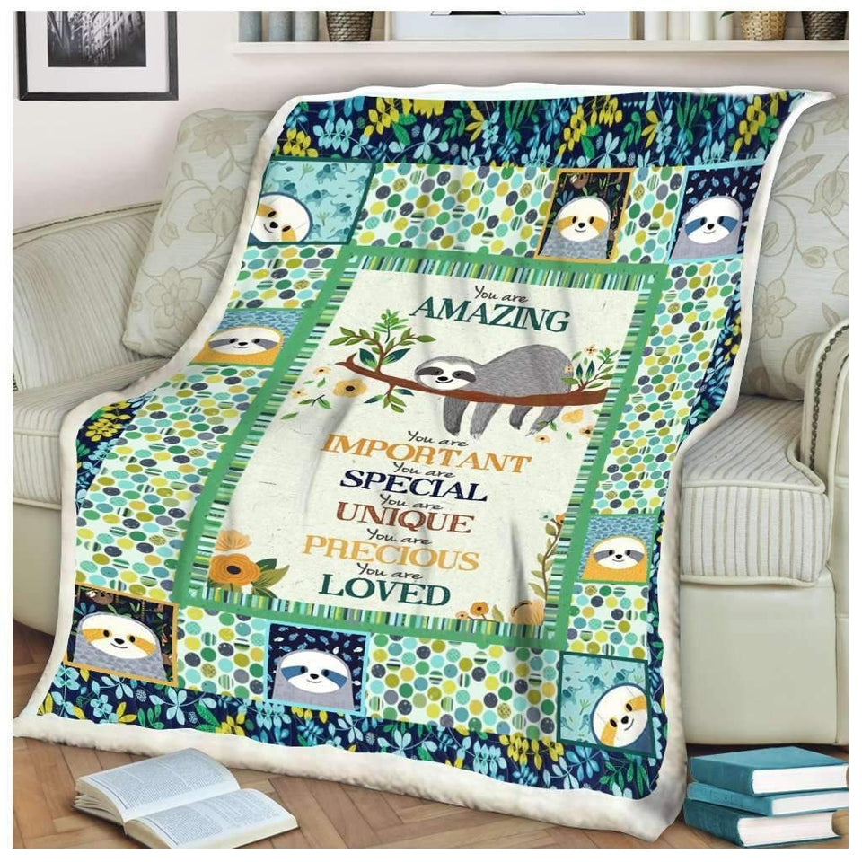 BLANKET - Sloth - You Are Amazing - yenyenstore