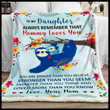 BLANKET - Sloth - Mommy Loves You - yenyenstore