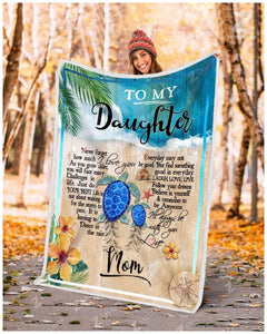 Blanket Turtle To My Daughter I'll Always Be With You - Zalooo.com Custom Wall Art Canvas