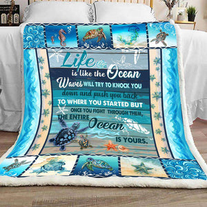 BLANKET - Turtle - Life Is The Ocean - yenyenstore