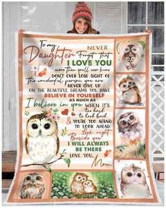 Blanket Owl To My Daughter I'll Always Be There