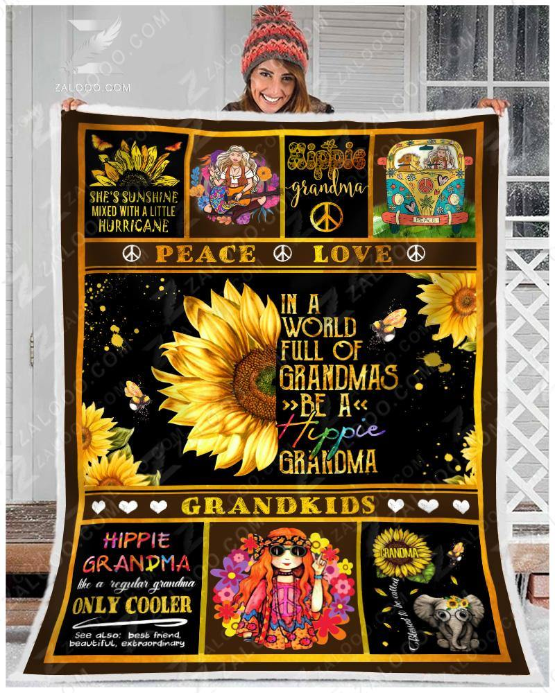 Blanket Hippie Grandma - Zalooo.com Custom Wall Art Canvas