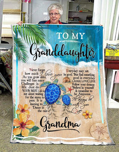 Blanket Turtle To My Granddaughter I'll Always Be With You
