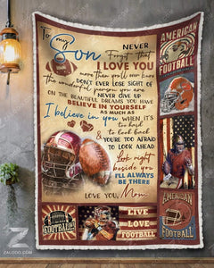 Blanket - Football - To My Son - I'll Always Be There