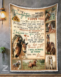 Blanket Horse To My Daughter I'll Always Be There - Zalooo.com Custom Wall Art Canvas