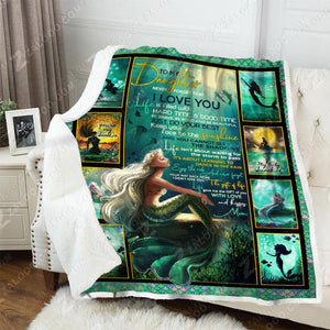 Blanket Mermaid To My Daughter You Are My Sunshine - Zalooo.com Custom Wall Art Canvas