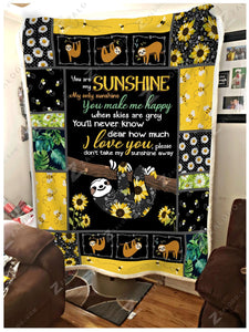 BLANKET - Sloth - You Are My Sunshine