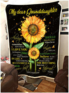 Fleece Blanket - Granddaughter ( Mawmaw) - Always remember how much I love you - yenyenstore