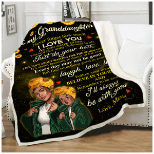 BLANKET BLACK Granddaughter (Mema) I'll always be with you