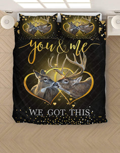 Zalooo You And Me Buck And Doe Hunting Bedding Set - Zalooo.com Custom Wall Art Canvas